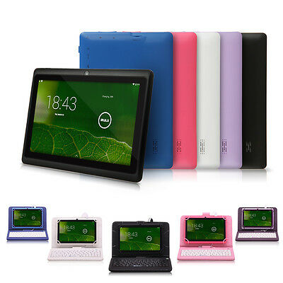 """iRULU 7"""" Android 6.0 Tablet PC 8/16G Capacitive Dual Camera 1.3GHz with Keyboard"""