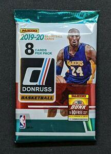 2019-20-PANINI-DONRUSS-NBA-Basketball-1-NEW-RETAIL-PACK-8-CARDS-MORANT-ZION