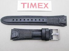 Genuine Timex Ironman black leather watch band strap 19mm lug NOS