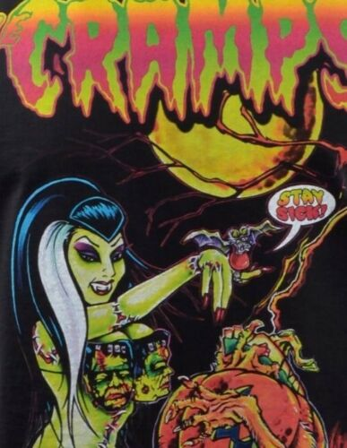 MENS FITTED VEST TANK JOHNNY ACE THE CRAMPS PUMPKIN HALLOWEEN HORROR PSYCHOBILLY