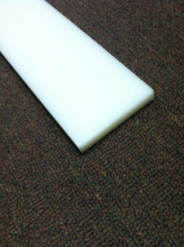 """WHITE  HDPE STRIP 4 BUNK GLIDES // SLIDES Boat Trailer // Marine 3/"""" x 48/"""""""