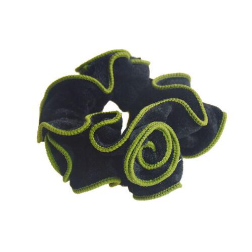Women SweetVelvet Flower Hair Scrunchies Headwear Ponytail Holder Hair Tie Rope