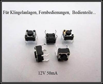 Mikrotaster Taster 6x6x4,3mm Mikroschalter Drucktaster 4pin Schalter 5 Stück