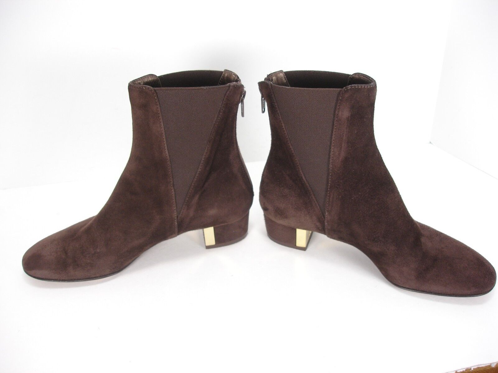 AGL ATTILIO GIUSTI LEOMBRUNI BROWN SUEDE SIDE ZIP ANKLE BOOTS BOOTIES WOMEN'S 36