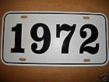 1972 CHRYSLER IMPERIAL CADILLAC VW YEAR LICENSE PLATE