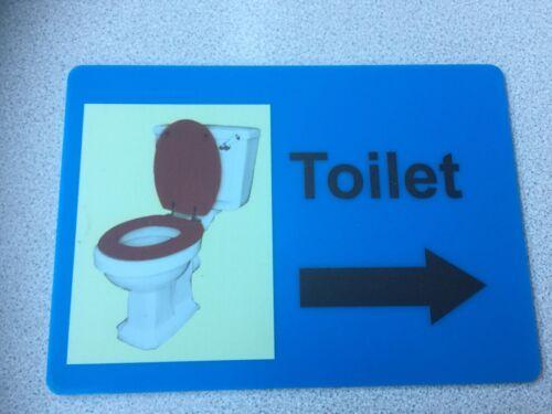 Pépinière soins résidentiels Home école Toilette Signe en Acrylique//Plexiglas flèche