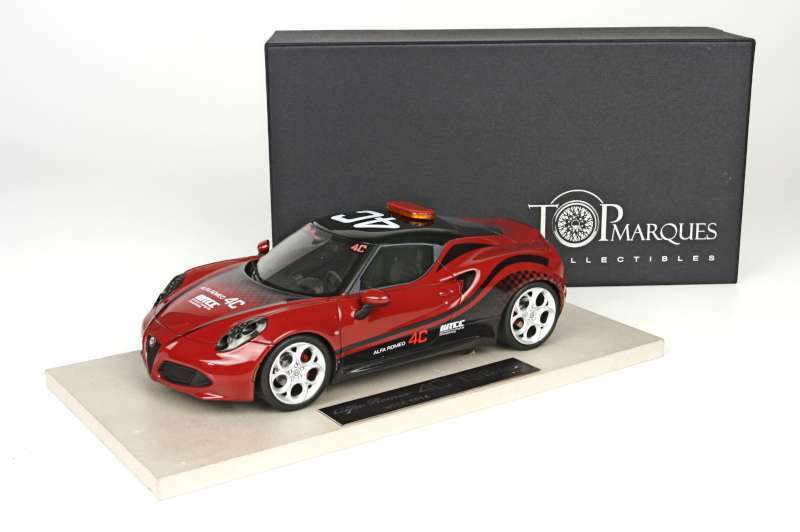 TOP MARQUES 11 ALFA ROMEO 4C resin model car World Touring Car Championship 1 18