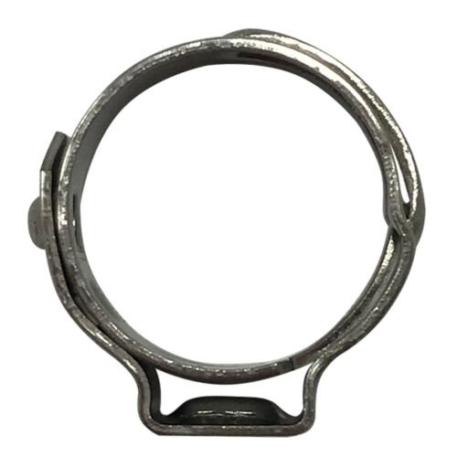 """.378/"""" - 7//16 Single Ear Stainless Steel Open Pinch Crimp Hose Clamp 7//16/"""" 10"""