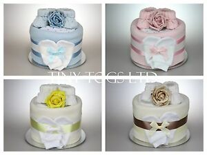 0593883b2 BABY BOY GIRL SINGLE 1 ONE TIER NAPPY CAKE BABY SHOWER GIFT ...