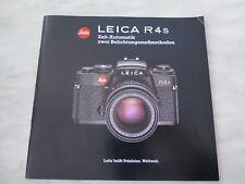 Bedienungsanleitung/ Gebrauchsanleitung für LEICA R4s