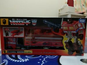 Transformers A Bathing Ape Bape G1 Optimus Prime Red Camo MIB Unused sticker