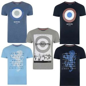 a0e0ec9ecfc Image is loading Lambretta-Mens-Printed-Cotton-T-shirts-Target-Mod