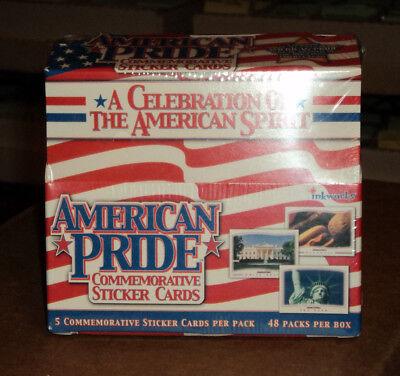 2001 Inkworks American Pride Commemorative Trading Sticker Cards Box of 48 Packs