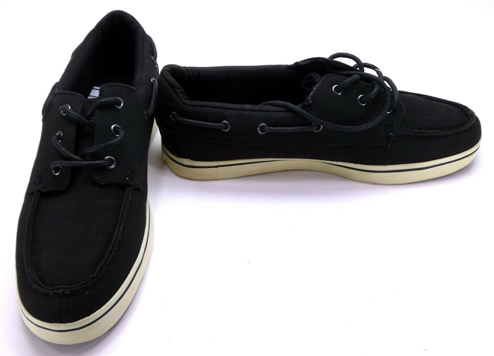 Lugz Boat shoes Marsh Canvas Black Topsiders Size 8.5