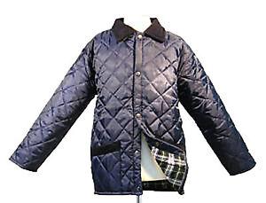 Nouveau-garcons-anglais-bleu-matelasse-equitation-veste-manteau-2-3-4-5-6-7-8-9-10-11-12-13-14