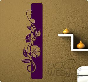 xxl wandtattoo banner blumen ranke wandaufkleber aufkleber streifen deko ebay. Black Bedroom Furniture Sets. Home Design Ideas