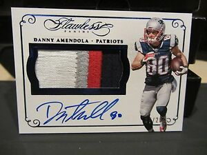 new concept 9d1a1 a1064 Details about Panini Flawless Blue On Card Autograph Jersey Patriots Danny  Amendola 07/20 2015