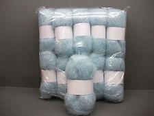 Mohair Wool Yarn 10 x 50g Balls Pale Blue 78% Mohair Double Knitting