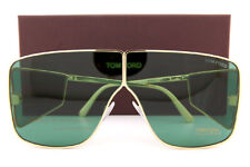 Tom Ford TF 708 FT0708  Spector shiny yellow gold dark green 33N Sunglasses