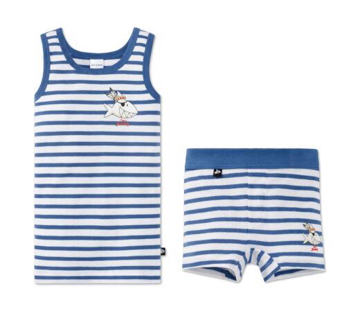 camicia sotto giovani suicidio CAP /'n Sharky Nuovo Schiesser Set Set mutande shorts