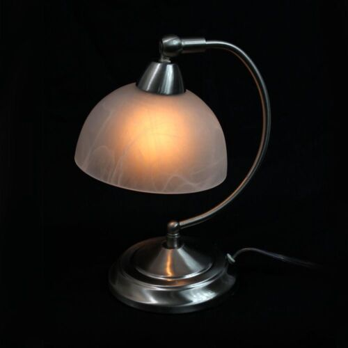 Touch Control Small Bankers Desk Accent Lamp ~ 3 Brightness Levels /& Curved Arm