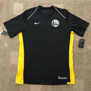 8f81e543e434 Nike Dry Mens Basketball Shirt Gray Yellow Size XL NBA Golden State ...