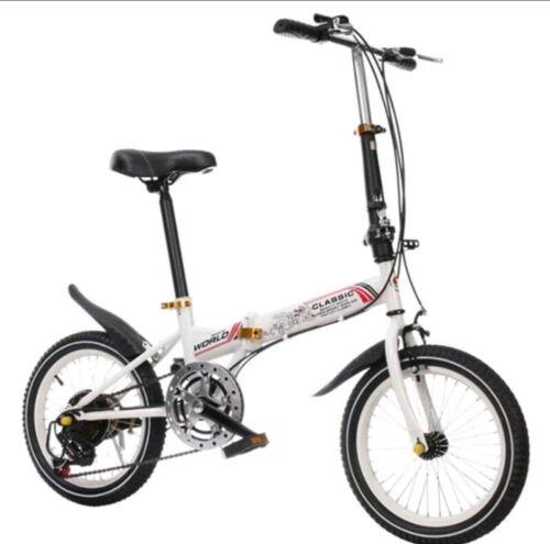 "New Shimano Hong Teng 20/"" Folding City Bicycle Bike HTZD-002 white"