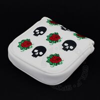 Skull & Rose Head Cover For Ping Craz-e, Wack-e, Ketsch, Nome Mallet Putters
