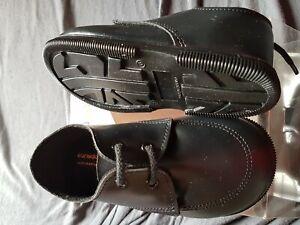 nouvelle arrivee complet dans les spécifications pas cher à vendre Détails sur Chaussure cérémonie mariage baptême enfant garçon bébé noir mat  en 23