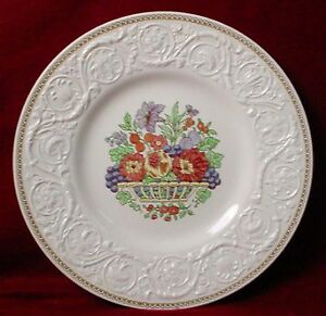 Wedgwood China Windermere Ak7868 Pattern Dinner Plate At 10 58