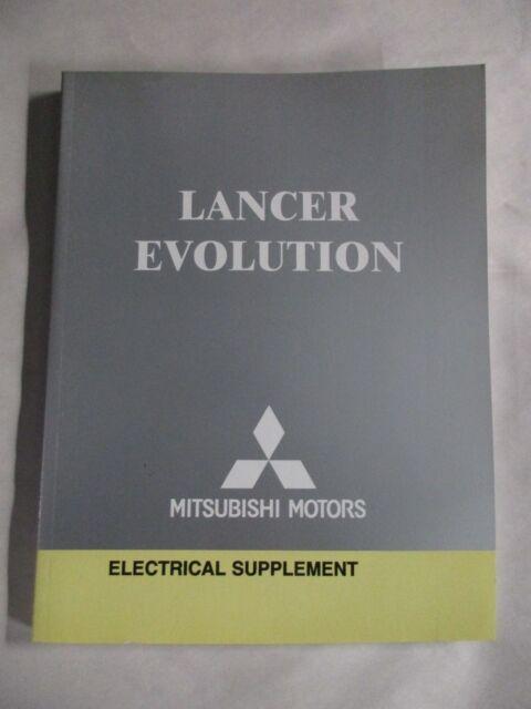 2006 Mitsubishi Lancer Evolution Electrical Supplement Wiring Diagram Manual