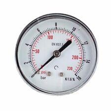 Heavy Duty Air Compressor Pressure Gauge 0 230 Psi 14 Npt Back Mount 2 Dial