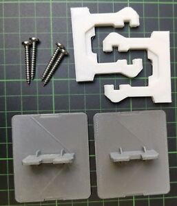 1 Screwed Clip Kit For Cooke Lewis It Kitchens Soft Close Drawers By B Q Ebay