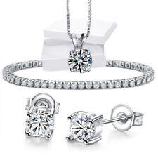 Sliver Cubic Zirconia Roman Tennis Heart Bracelet Made With Swarovski Crystal