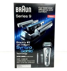 Braun-SERIE-9-9095cc-RASOIO-Wet-amp-Dry-con-Clean-amp-Charge-Station-Nuovo-Di-Zecca