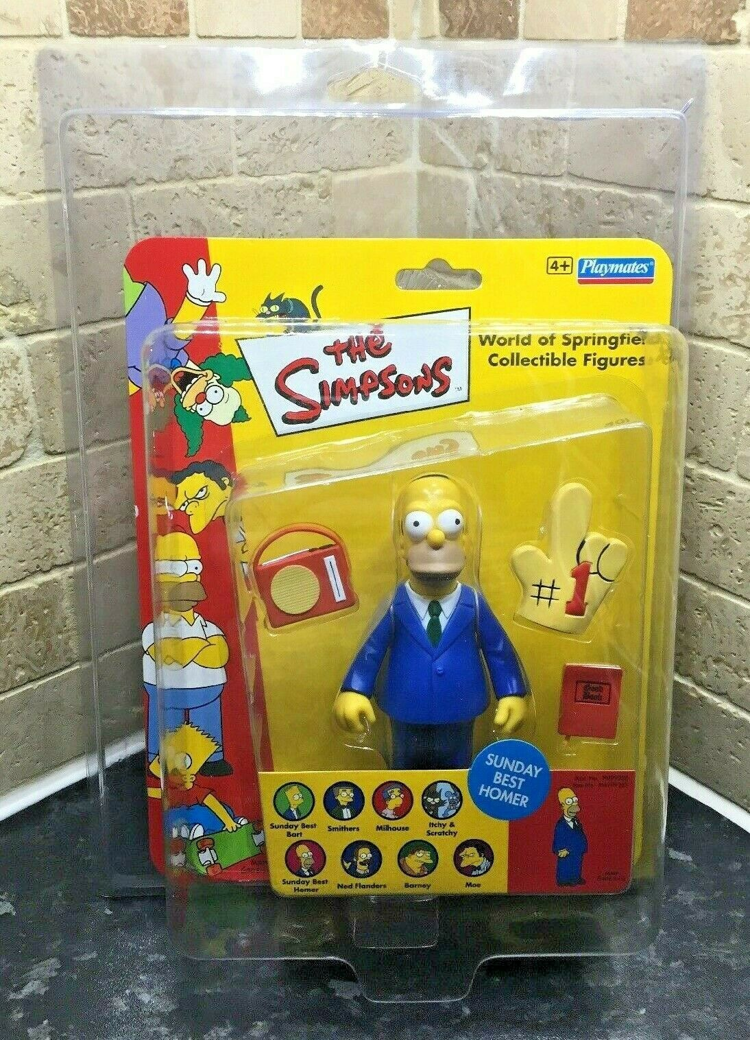 Uk Exclusive Rare The Simpsons Sunday Best Homer WOS Vivid Imaginations Figure