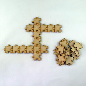 Image Is Loading 25x Jigsaw Puzzle Pieces Laser Cut MDF Wooden