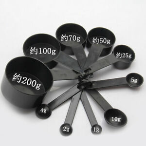 10Pcs-kit-Kitchen-Measuring-Spoons-Cup-Set-Baking-Cooking-Coffee-Spoon-Plastic