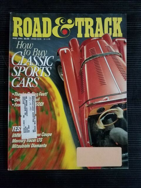 Road & Track June 1991 - BMW 850i - Mercury Tracer - 1955 Chrysler Ghia Falcon