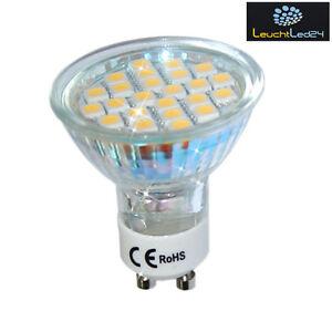 SUPER-LED-LAMPE-LED-24-SMD-5050-GU10-230V-3-5W-wie-40W-TUV-Qualitaet
