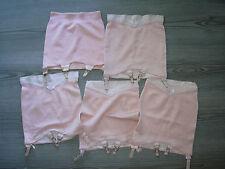 vintage lingerie lotto guaina contenitiva con reggicalze anni 50 rosa cipria