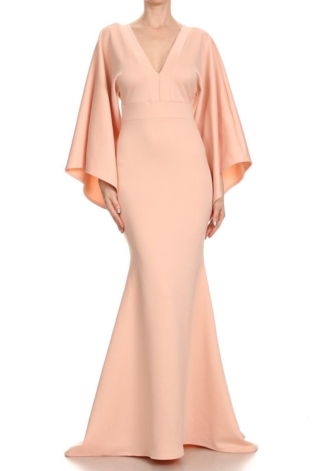 Rosa V-Neck Long Maxi Dress Evening  Wedding   Elegant  Prom  Sexy Long Dress
