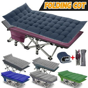 Adult Folding cots Camping Bed Outdoor Military Cot Sleeping Hiking Travel Carry