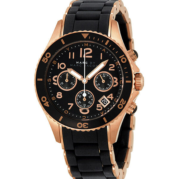 Marc Jacobs Pelly Chronograph Rose Gold-tone Steel Ladies Watch