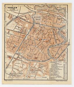 1910 ANTIQUE CITY MAP OF HAARLEM HARLEM HOLLAND NETHERLANDS eBay