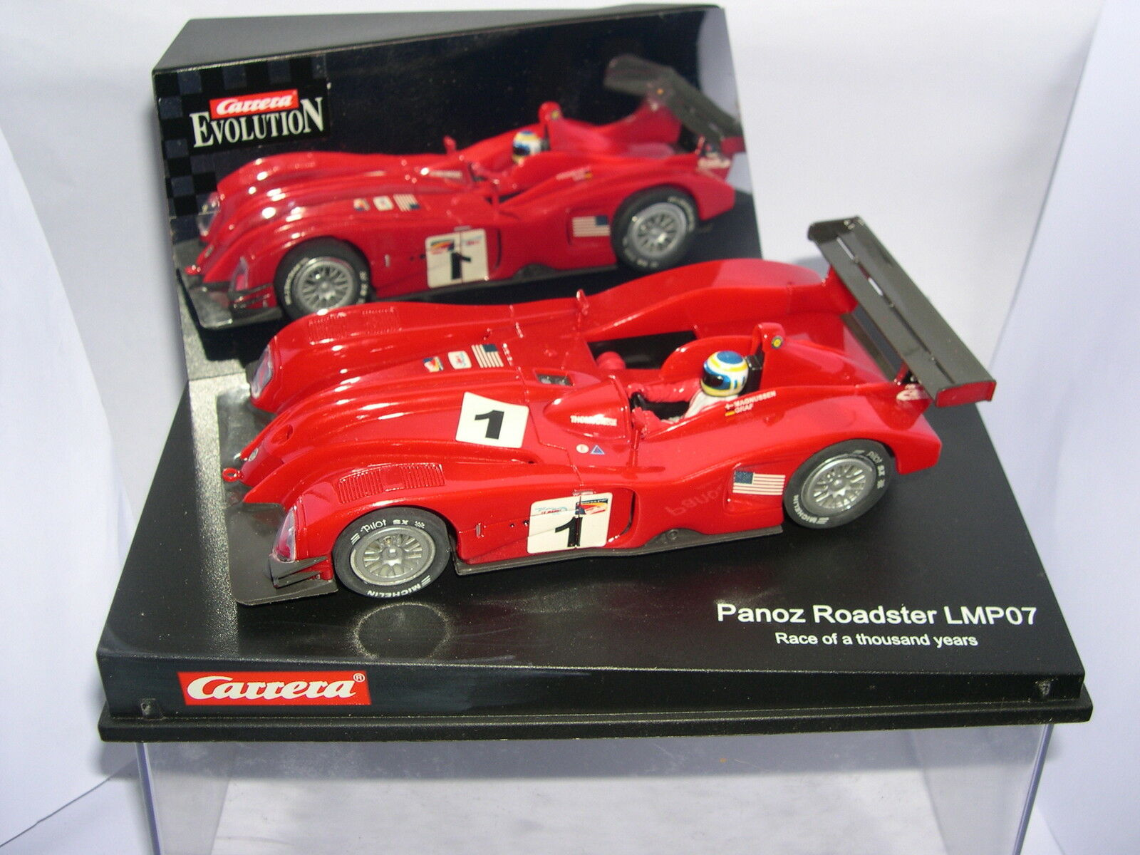 CARRERA CARRERA CARRERA EVOLUTION 25430 SLOT CAR PANOZ LMP07  1 GARA A THOUSAND YEAR MAGNUSSEN 145fb0