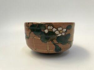 Japanese-Pottery-Tea-Ceremony-Bowl-Chawan-Vintage-Signed-Old-Kutani-Ware-Y398