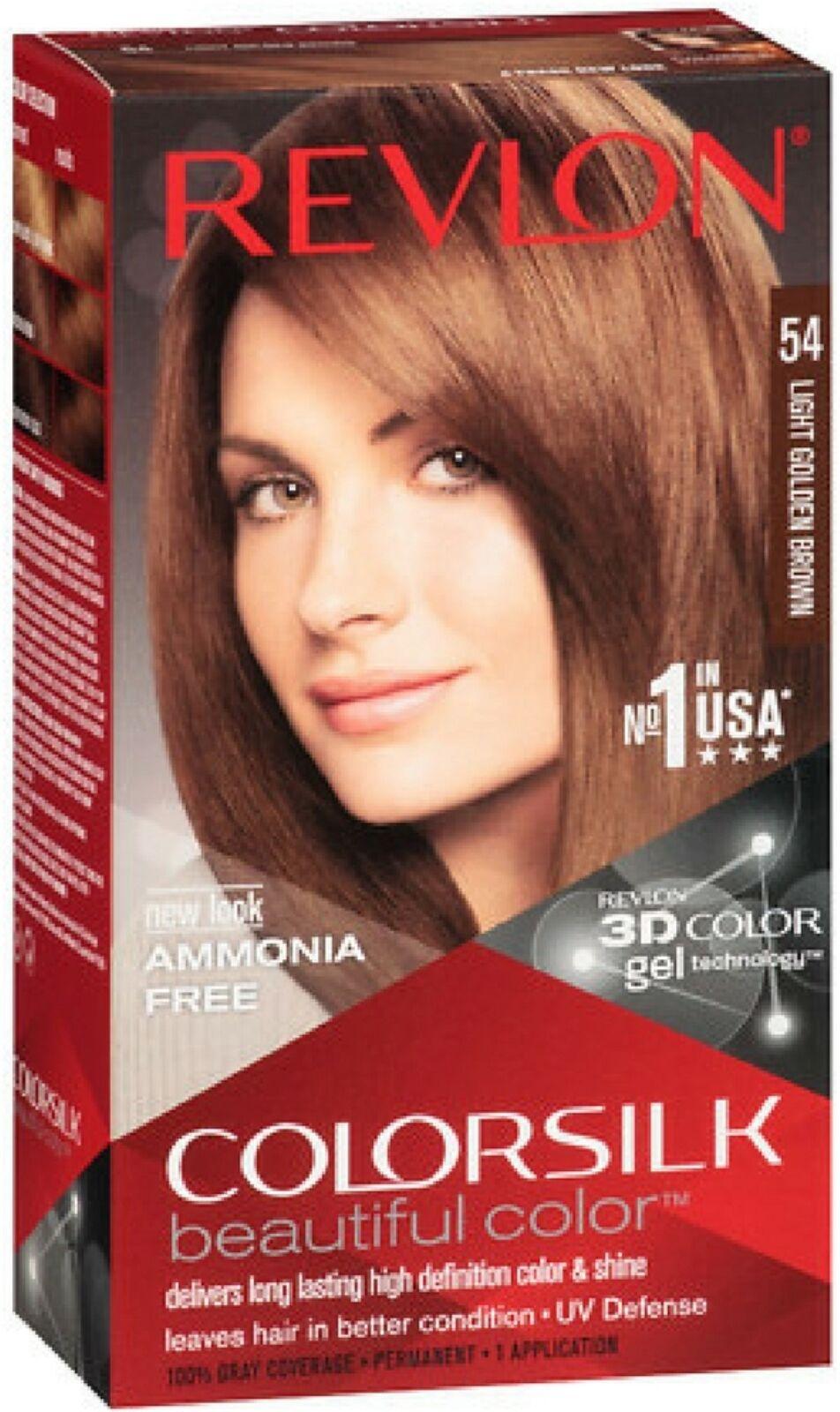 Revlon Luxurious Colorsilk Color 54 Light Golden Brown 3d Hair