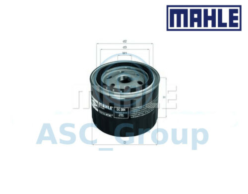 Genuine MAHLE Replacement Screw-on Engine Oil Filter OC 384 OC384