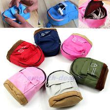 Cute Case Mini Coin Wallet Card Backpack Canvas Purse Zipper Bag Keys Pouch